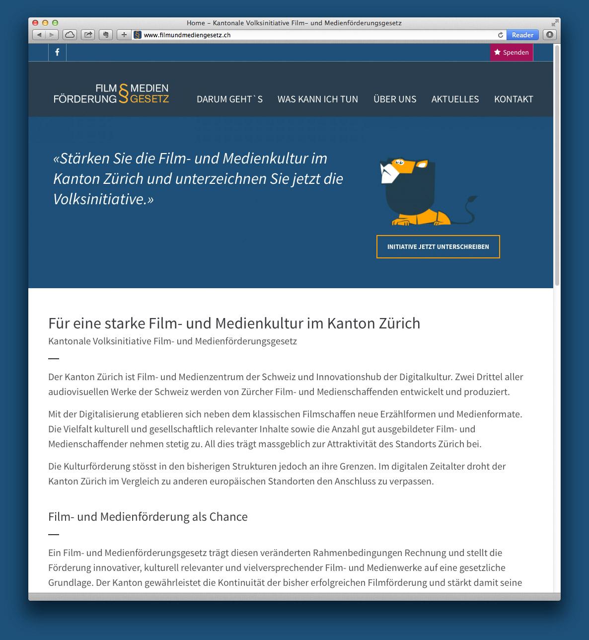 Film- und Medienförderungsgesetz, Webdesign